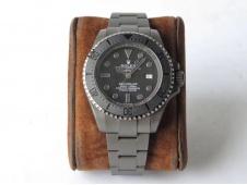 Replica Rolex Sea-Dweller Deepsea 116660 PVD VRF 1:1 Best Edition Black Dial on SS Bracelet A2836
