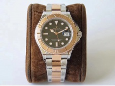 Replica Rolex Yacht-Master 126621 2tone Rose Gold GMF 1:1 Best Black Dial SS/RG Bracelet SA3235