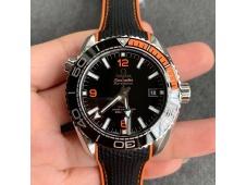 Replica OMEGA Planet Ocean 43.5mm VSF 1:1 Best Edition Black/Orange Bezel Black Dial A8900 Super Clone V2