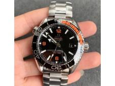 Replica OMEGA Planet Ocean 43.5mm SS VSF 1:1 Best Edition Black/Orange Bezel Black Dial A8900 Super Clone V2