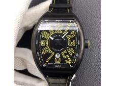 Replica Frank Muller Vanguard V45 DLC ZF 1:1 Best Black Dial Black Rubber Strap MIYOTA 9015