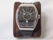 Replica Frank Muller Vanguard V45 SS ZF 1:1 Best Black Textured Dial Black Rubber Strap MIYOTA 9015