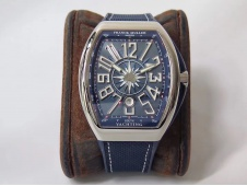 Replica Frank Muller Vanguard V45 SS ZF 1:1 Best Blue Dial on Blue Rubber Strap MIYOTA 9015