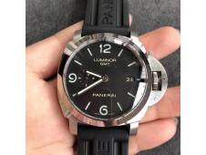 Replica Panerai PAM320 M GMT VSF 1:1 Best on Black Rubber Strap P9001 Super Clone V2