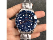 Replica OMEGA 2018 Seamaster Diver 300M VSF 1:1 Best Blue Dial on SS Bracelet A8800 V2 (Black Balance Wheel)