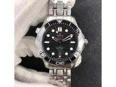 Replica OMEGA 2018 Seamaster Diver 300M VSF 1:1 Best Black Dial on SS Bracelet A8800 V2 (Black Balance Wheel)