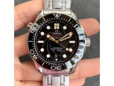 Replica OMEGA Seamaster Diver 300M 007 James Bond VSF 1:1 Best Edition on SS Bracelet A8800