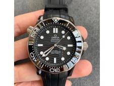 Replica OMEGA Seamaster Diver 300M Real Ceramic Case VSF 1:1 Best on Black Rubber Strap A8806 V2 (Free Nato)