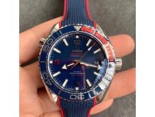 Replica OMEGA Planet Ocean 43.5mm Pyeongchang 2018 VSF 1:1 Best Blue Dial Nylon Strap A8900 Super Clone