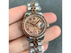 Replica Rolex Datejust 28MM 279171 Ladies WF Rose Gold/Steel Pink Dial Swiss ETA 2671 Watch