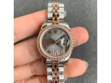 Replica Rolex Datejust 28MM 279383RBR Ladies WF Rose Gold/Steel Diamond Bezel GRAY Dial Swiss ETA 2671 Watch