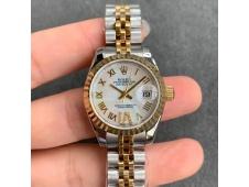 Replica Rolex Datejust 28MM 279383RBR Ladies WF Yellow Gold/Steel White MOP Dial Swiss ETA 2671 Watch