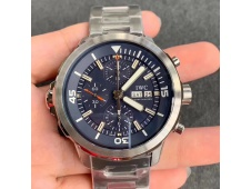 Replica IWC Aquatimer Chrono IW376803 V6F 1:1 Best Blue Dial on Steel Bracelet A7750