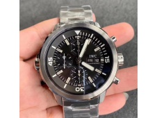 Replica IWC Aquatimer Chrono IW376803 V6F 1:1 Best Black Dial on Steel Bracelet A7750