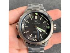 Replica IWC Aquatimer Automatic IW329002 V6F 1:1 Best Black dial on SS Bracelet MIYOTA 9015