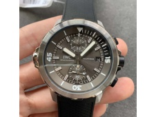 Replica IWC Aquatimer Chrono IW376803 V6F 1:1 Best Edition Gray Dial on Rubber Strap A7750