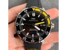 Replica IWC Aquatimer SS IW356802 ZZF 1:1 Best Black Dial on Rubber Strap MIYOTA9015