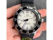 Replica IWC Aquatimer SS IW356802 ZZF 1:1 Best White Dial on Black Rubber Strap MIYOTA9015