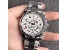 Replica Rolex Skydweller White Dial Roman Markers Asian 23J