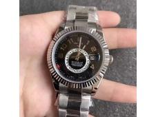 Replica Rolex Skydweller Black Dial Arabic Number Markers Asian 23J