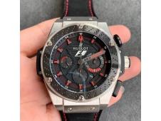 Replica Hublot Big Bang King Power F1 SS/Ceramic V6F 1:1 Best Edition Black Dial on Black Gummy Strap HUB4104