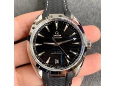 Replica OMEGA Aqua Terra 150M Master Chronometers VSF 1:1 Best Black Dial on Black Rubber Strap A8900 Super Clone