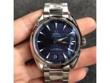 Replica OMEGA Aqua Terra 150M Master Chronometers VSF 1:1 Best Dark Blue Dial SS Bracelet A8900 Super Clone (2 Straps)