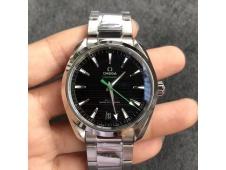 Replica OMEGA Aqua Terra 150M Master Chronometers VSF 1:1 Best Black Dial Green Hand SS Bracelet A8900 Super Clone