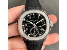 Replica Patek Philippe Aquanaut 5164A SS GRF V2 Best Black Dial on Black Rubber Strap A324