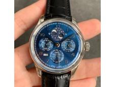 Replica IWC Portugieser Perpetual Calendar IW503401 V9F 1:1 Best Blue Dial on Black Leather Strap A52615