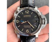 Replica Panerai PAM1312 W VSF 1:1 Best Black Dial on Black Leather Strap P9010 Clone