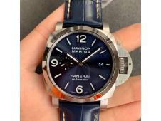 Replica Panerai PAM1313 VSF 1:1 Best Blue Dial on Blue Leather Strap P9010 Clone