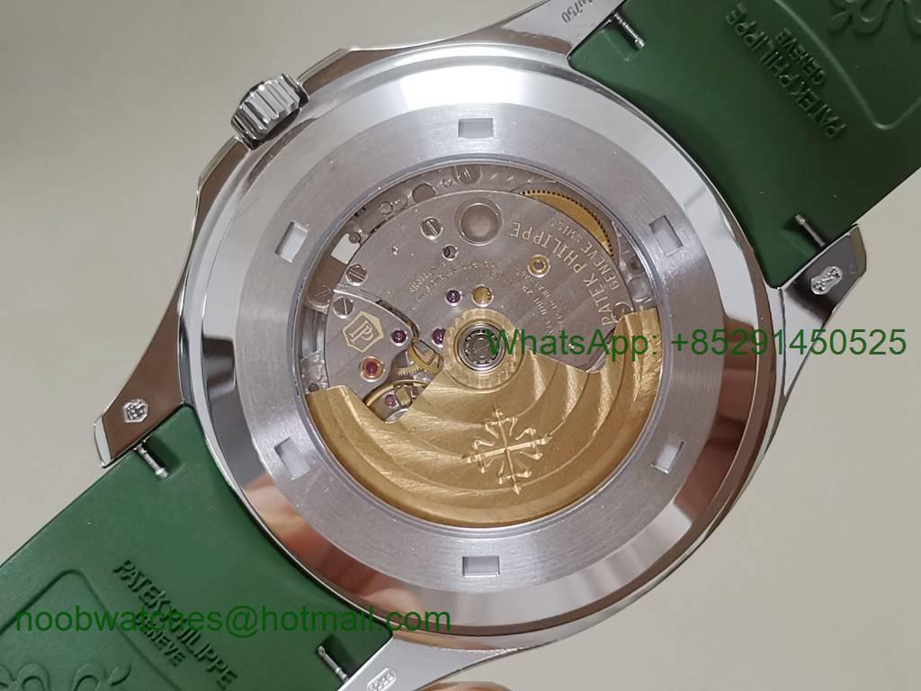 Replica Patek Philippe Aquanaut 5168G 42mm 3KF 1:1 Best Green Dial Rubber A324 V2