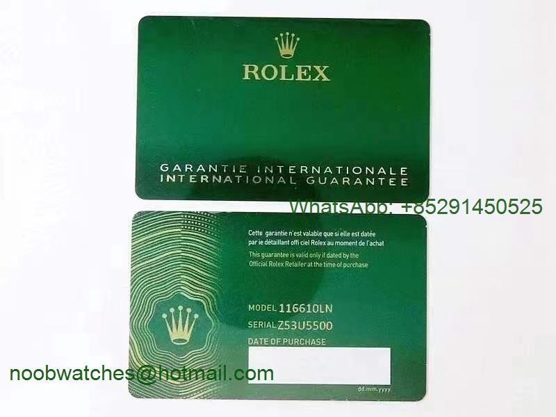 Custom Made Rolex Warranty Card New 2021 Matching Print