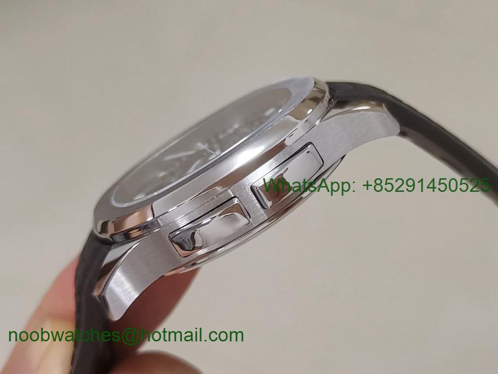 Replica Patek Philippe Aquanaut 5164A ZF 1:1 Best Black Dial on Rubber Strap A324