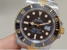 Replica Rolex Submariner 116613 1:1 904L Yellow Gold Black CLEAN Factory CF VR3135