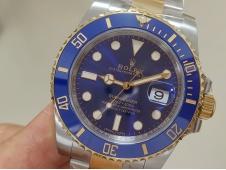 Replica Rolex Submariner 116613LB 1:1 904L Yellow Gold Blue CLEAN Factory CF VR3135