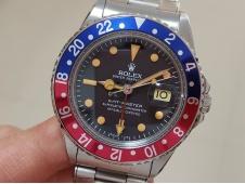 Replica ROLEX GMT Pepsi Blue Red Bezel Vintage 1675 BP Factory A2813