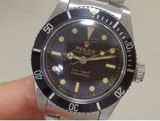 Replica ROLEX Vintage Submariner 5513 No Date Black Dial A2836