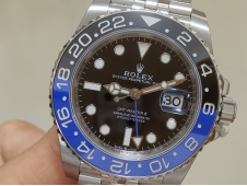 Replica ROLEX GMT-Master II 126710 BLNR BATMAN Black/Blue Ceramic 904L Steel VRF 1:1 Best SA3285 CHS V2