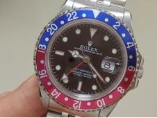 Replica ROLEX GMT II 16710 Pepsi Red Blue Bezel on Julibee Bracelet BPF A2813