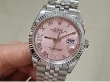 Replica Rolex DateJust 36mm 126234 EWF 1:1 Best Pink Dial on Julibee Bracelet A3235