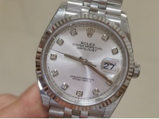 Replica Rolex DateJust 36mm 126234 EWF 1:1 Best Silver Dial on Julibee Bracelet A3235