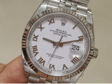 Replica Rolex DateJust 36mm 126234 EWF 1:1 Best White Roman Dial A3235