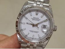 Replica Rolex DateJust 36mm 126234 EWF 1:1 Best White Dial A3235