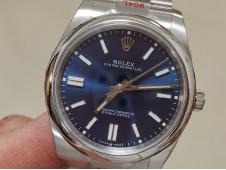 Replica Rolex Oyster Perpetual 41mm 124300 EWF 1:1 Best Blue Dial A3230