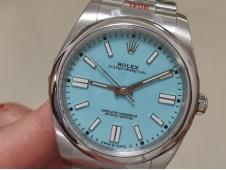 Replica Rolex Oyster Perpetual 41mm 124300 EWF 1:1 Best Tiffany Blue Dial A3230