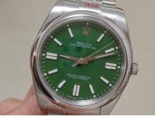 Replica Rolex Oyster Perpetual 41mm 124300 EWF 1:1 Best Green Dial A3230