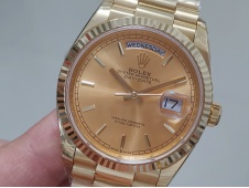 Replica Rolex DayDate 36mm Yellow Gold 128238 EWF Best Gold Dial on President Bracelet A3255