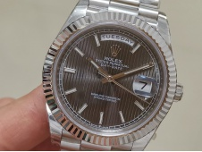 Replica Rolex DayDate 40mm 228239 EWF Best Gray Dial on SS President Bracelet A3255